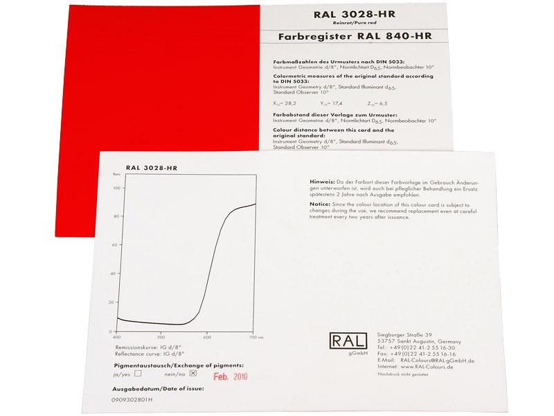 RAL 840-HR Einzelfarbkarte