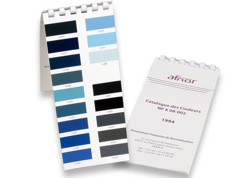 AFNOR Farbfächer NF X 08-002