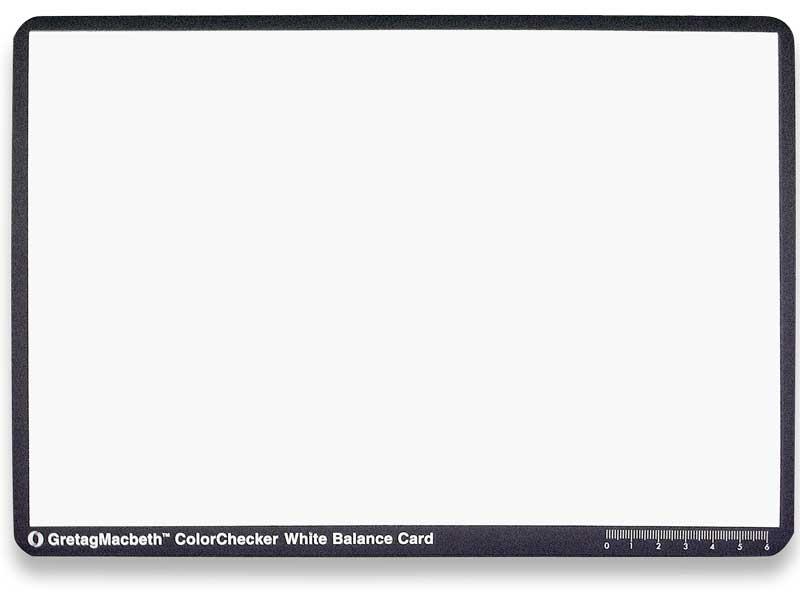 X-Rite Weißabgleichkarte