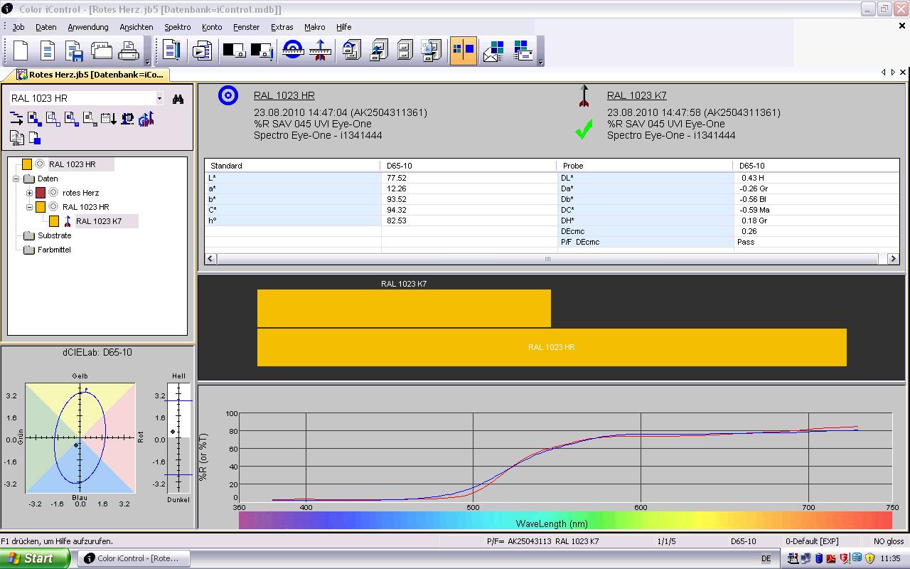 X-Rite Color iMatch Software für Farbrezeptierung