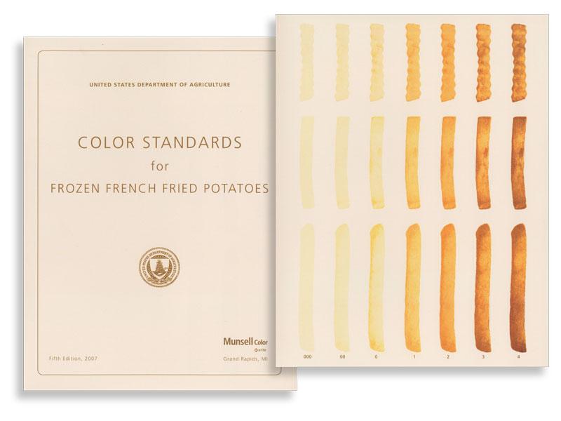 USDA Pommes Frites Farbkarte