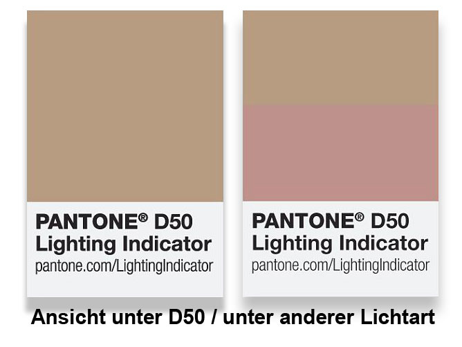 Pantone Lighting Indicator D50