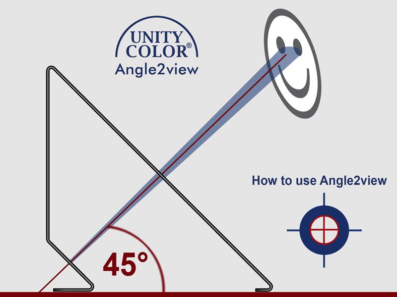 Einstellwinkel UnityColorAngle2view für Lichtkabinen