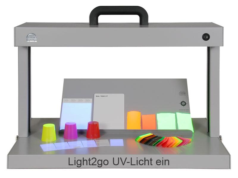 UnityColor Light2go mit UV-Licht