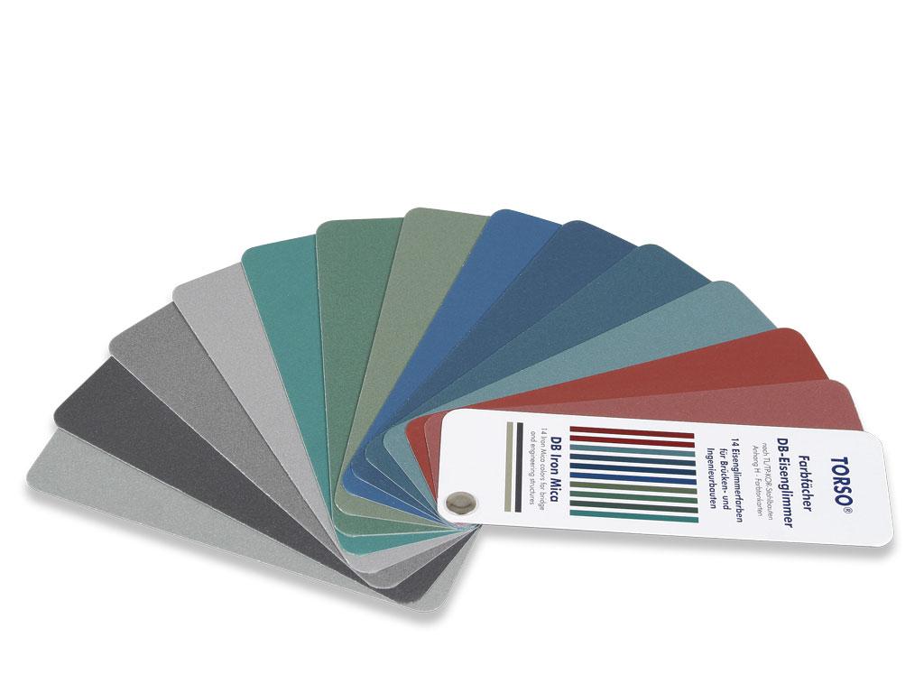 DB-Eisenglimmer Farbstandard Fächer