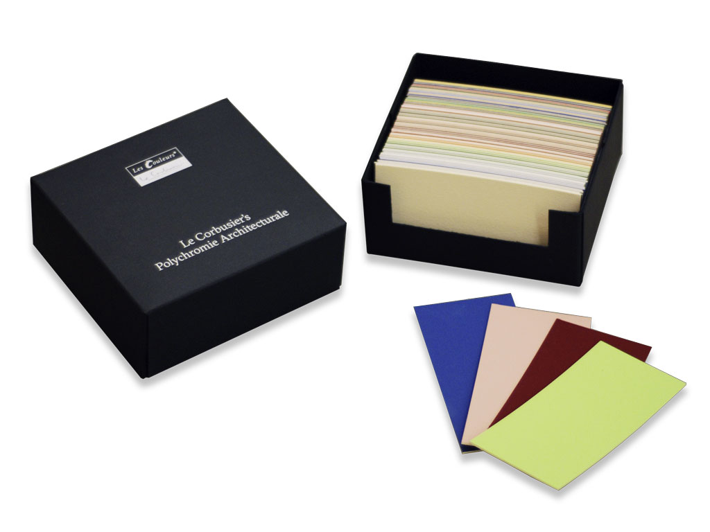 Le Corbusier color sample card set