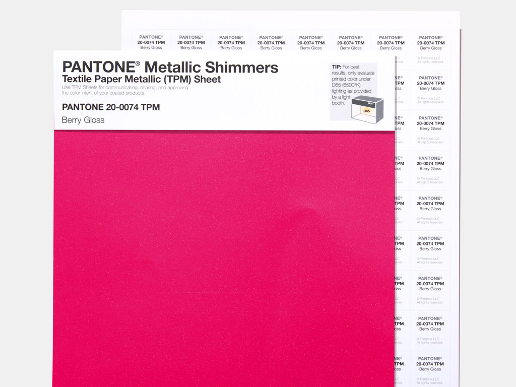Pantone Single color sheet TPM