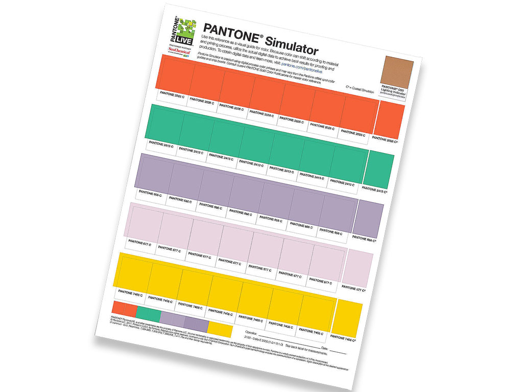 Pantone Simulator, Super Swatch, Super Chips