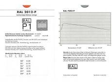 RAL P1 Plastics Einzelfarbmuster