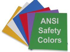 ANSI Safety Color Card