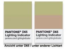Pantone Metamerie Sticker für Normlicht D65
