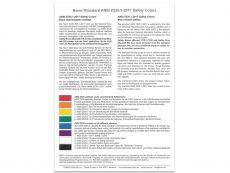 Farbkarte nach ANSI Z535.1