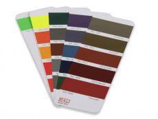 Produktmuster RAL K7 Perl- und Leuchtfarben