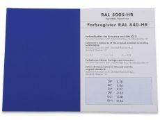 Produktmuster RAL HR-Einzelfarbkarte